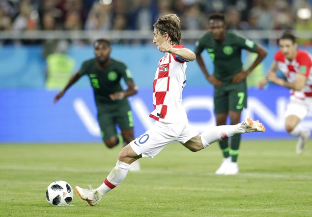 Luka Modric sets up first-half goal then secures Croatia win over Nigeria with penalty