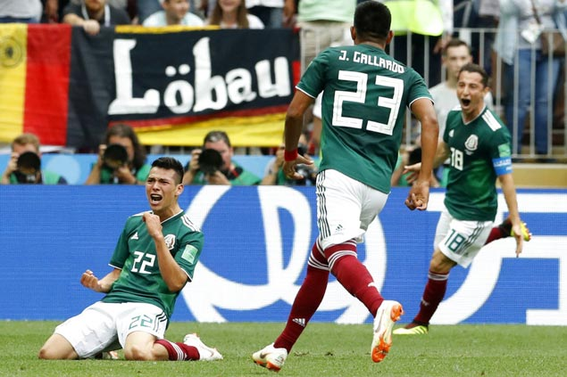 Chucky scores as Mexico stuns World Cup titleholder Germany