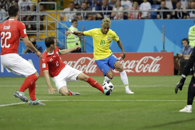 Switzerland shackles Neymar and earns draw with Brazil