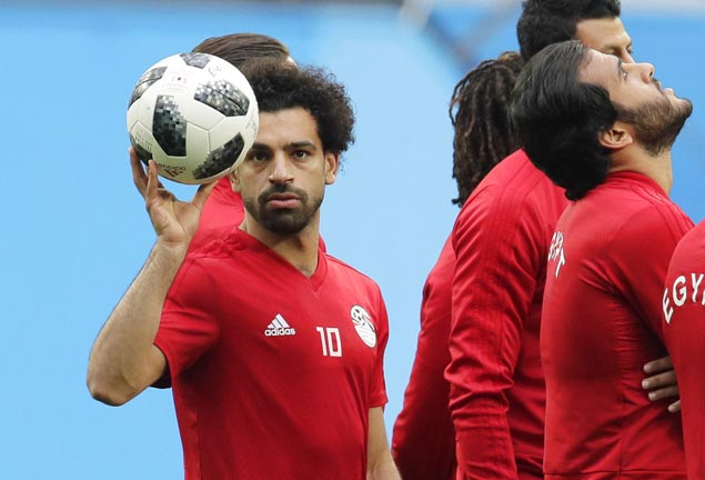 Mo Salah still shows signs of shoulder discomfort ahead of Egypt-Russia game