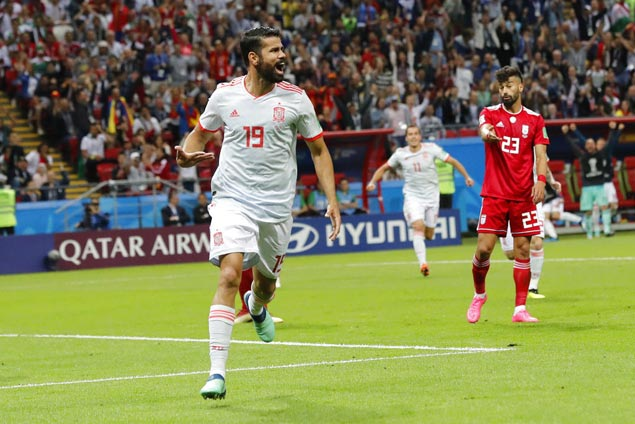 Fortuitous Diego Costa goal gets Spain past tough-defending Iran in World Cup