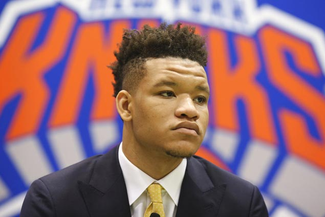 Like Porzngis before him, Knox looks to win over Knicks fans after getting booed on draft day