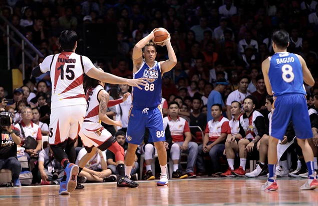 Asi Taulava shows it's never too late to develop a three-point shot - and Guiao loved it