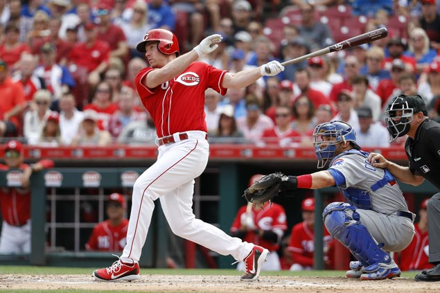 Anthony DeSclafani first Cincinnati pitcher in 59 years to hit grand slam as Reds rip Cubs