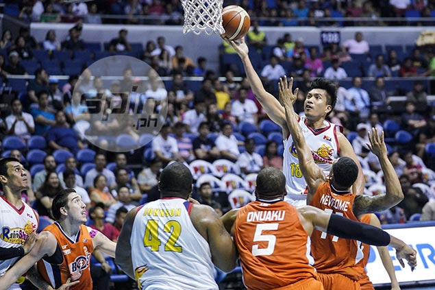Rain or Shine clinches No. 1 ranking after grinding out overtime win over Meralco