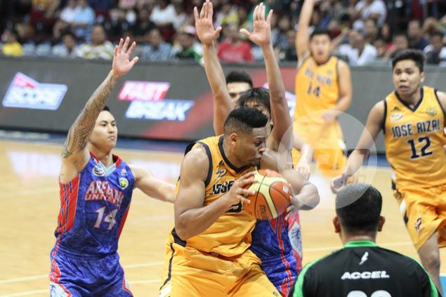 Cameroon's Abdoul Poutouochi powersJRU Bombers to big win over Arellano Chiefs in NCAA opener