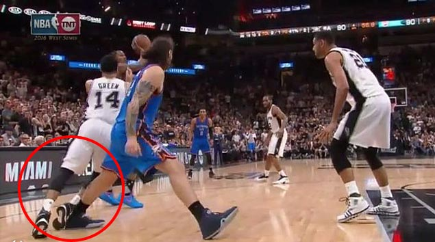 NBA report reveals more incorrect calls in Spurs-Thunder series: 'Adams extended leg into Green's path'