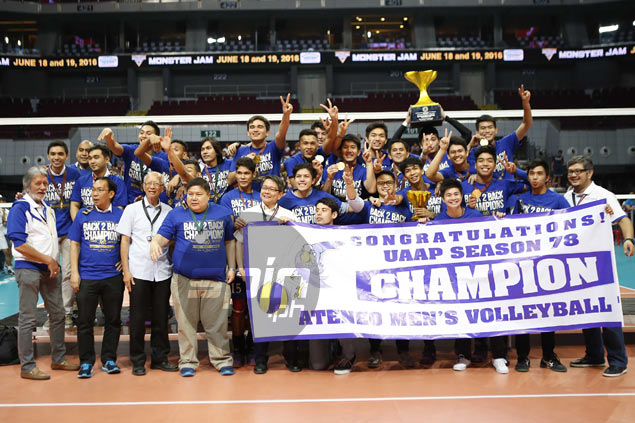 Ateneo Blue Eagles retain UAAP volleyball title with sweep of NU Bulldogs in Season 78 final