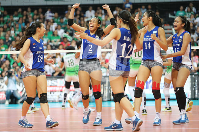 Ateneo Lady Eagles beat La Salle from two-sets down to send UAAP Finals to deciding third game