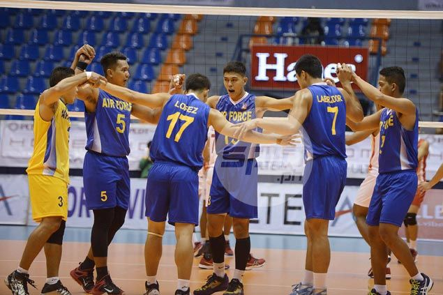 Air Force one win away from Spikers Turf elims sweep after whipping Sta. Elena