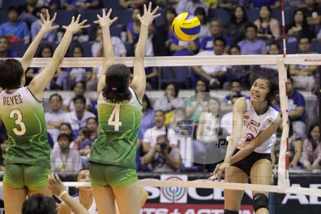 Ateneo Lady Eagles on verge of rare season sweep, UAAP title repeat after rout of Galang-less La Salle