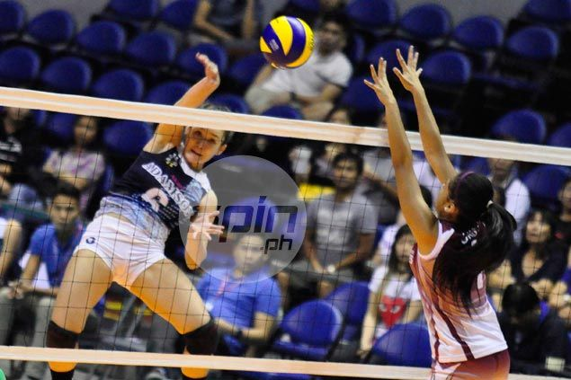 Adamson Lady Falcons avoid collapse, turn back UP Lady Maroons in five to force three-way tie for third