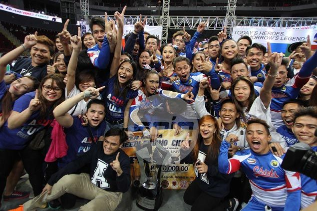 Arellano Pep Squad rules NCAA cheerleading competition, ends Perpetual Help's five-year reign