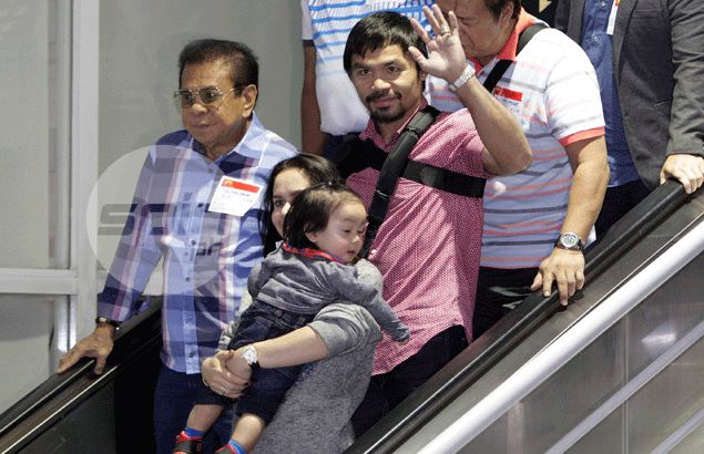 Pacquiao insists he beat Mayweather by two points upon his arrival from US