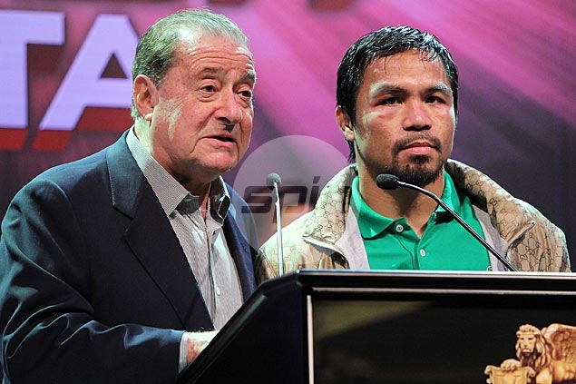 Bob Arum skeptical on Pacquiao retirement, says his Top Rank contract runs until 2017