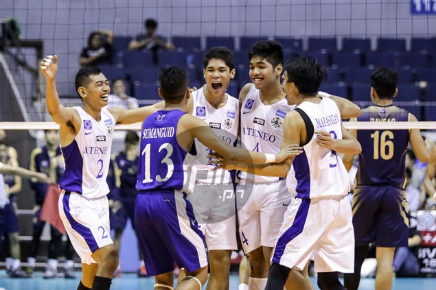 Blue Eagles one win away from second straight UAAP volley title after edging Bulldogs