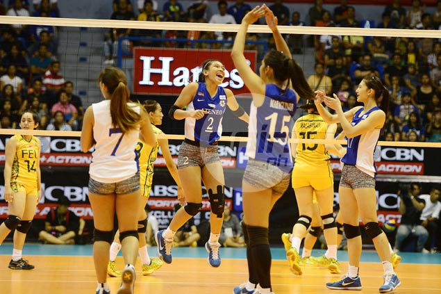 Ateneo Lady Eagles get a win run going anew with straight-sets demolition of FEU Lady Tamaraws