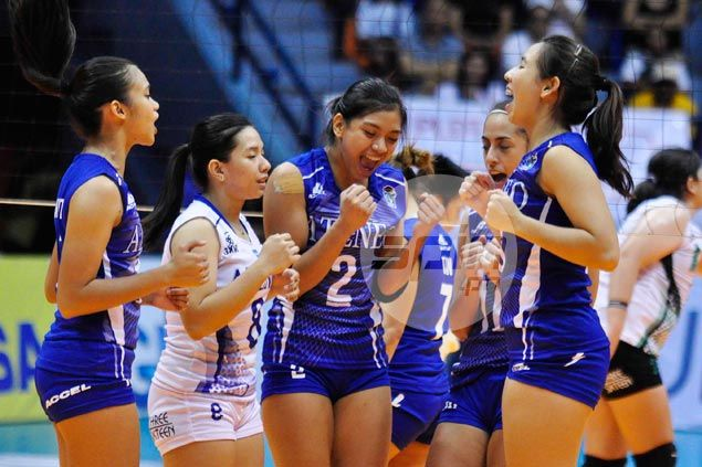 Alyssa Valdez scores conference-high 32 as Ateneo Lady Eagles nip CSB Lady Blazers in five