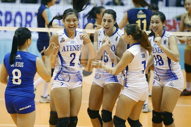 Ateneo Lady Eagles one win away from crown after drubbing NU Lady Bulldogs in opener of V-League title series