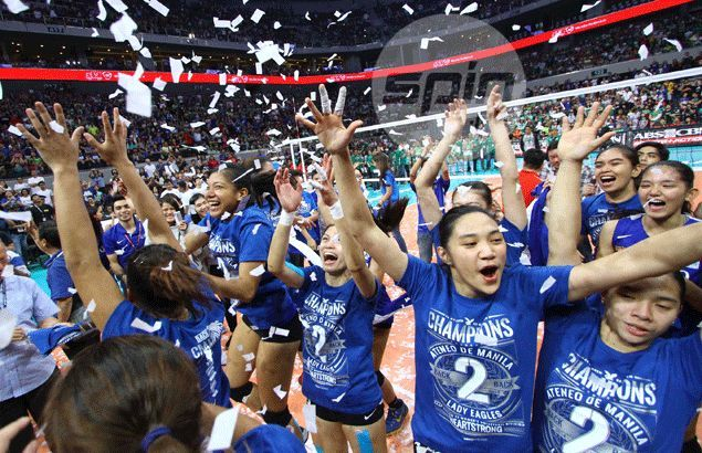 Sweep 16 for Ateneo as Lady Eagles cap unbeaten run with domination of La Salle Lady Spikers