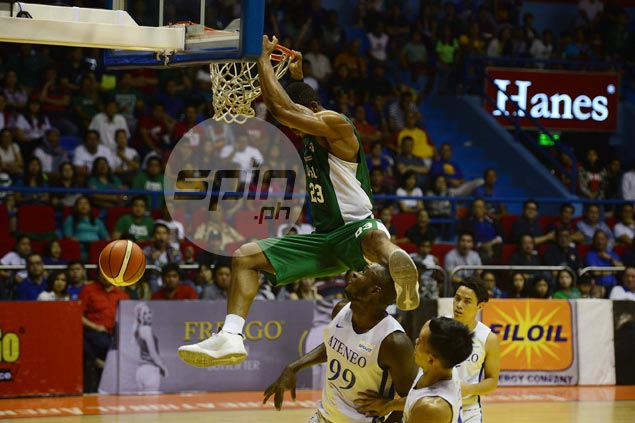 Ben Mbala posts huge double-double as La Salle Green Archers clobber Ateneo Blue Eagles