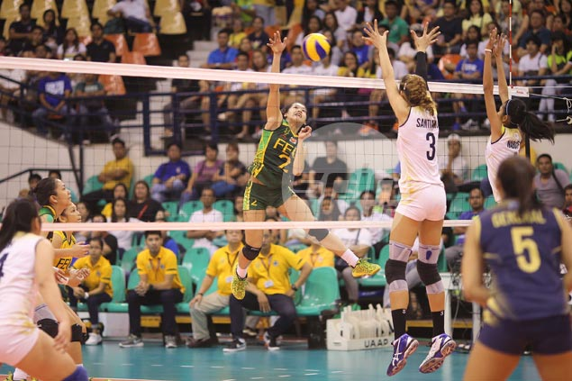 FEU Lady Tamaraws survive five-set thriller against NU Lady Bulldogs