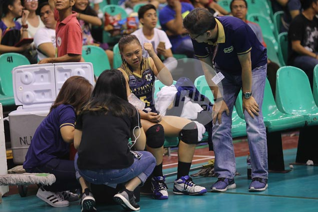Double-whammy for Lady Bulldogs as first choice libero Bia General suffers elbow injury