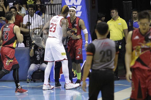 Arwind Santos says he has no intention of hurting Marqus Blakely