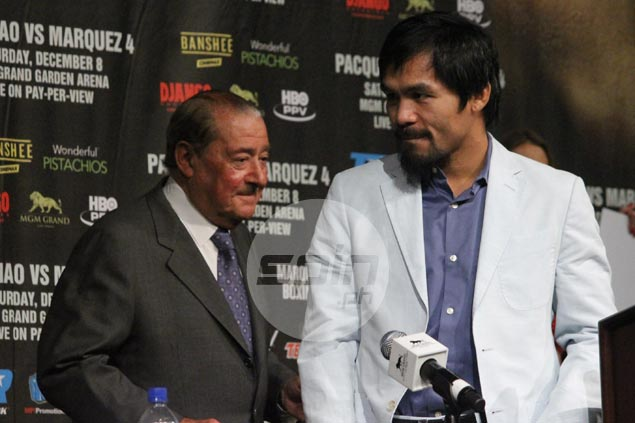 Manny Pacquiao looking to hold 'farewell fight' not later than April 9, says Bob Arum