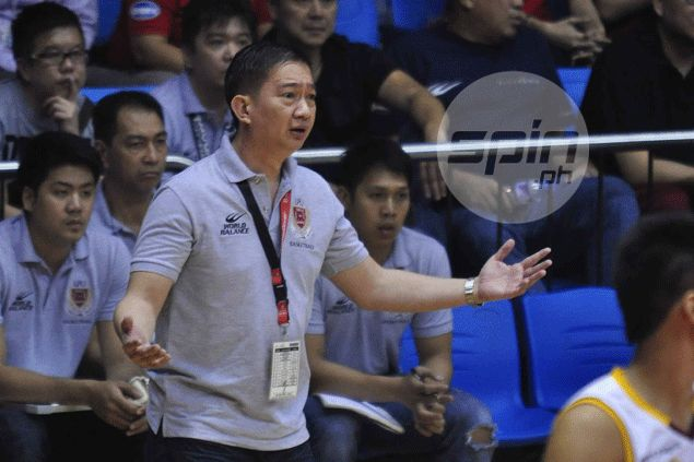 Bonnie Tan elated with Lyceum-Breadstory's D-League achievement before he part ways with the team