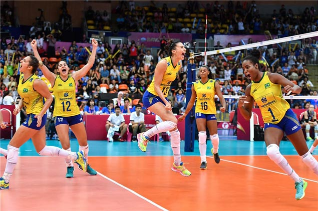 Brazil edges USA in five sets to top FIVB World Women's Grand Prix