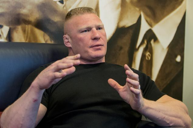 Former WWE, UFC champ Brock Lesnar selected as cover superstar of 2K17 video game