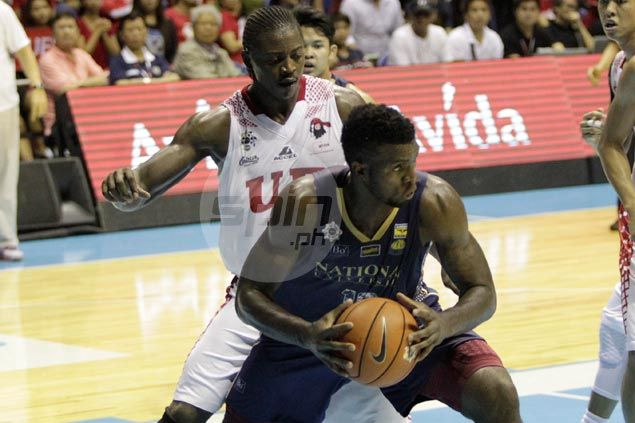 Alfred Aroga admits trash-talking Charles Mammie motivates him to play better in NU's playoff win over UE