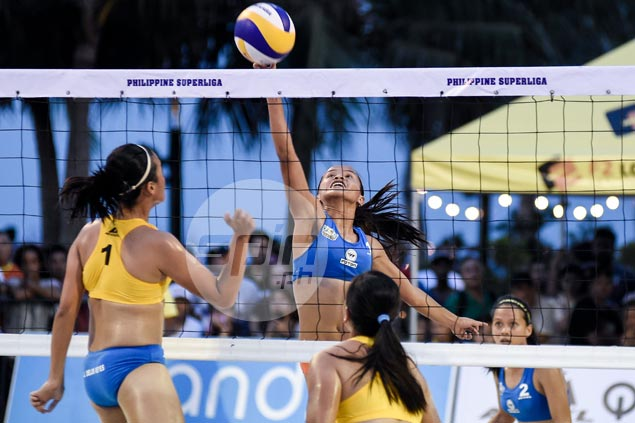 Rondina, Orendain march on to PSL beach volley semifinals against Pons, Atienza