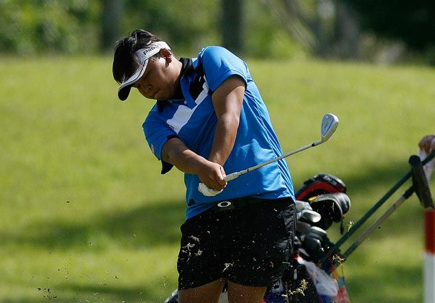 Chihiro Ikeda ahead by a solitary shot after bogey on closing hole at Mt. Malarayat