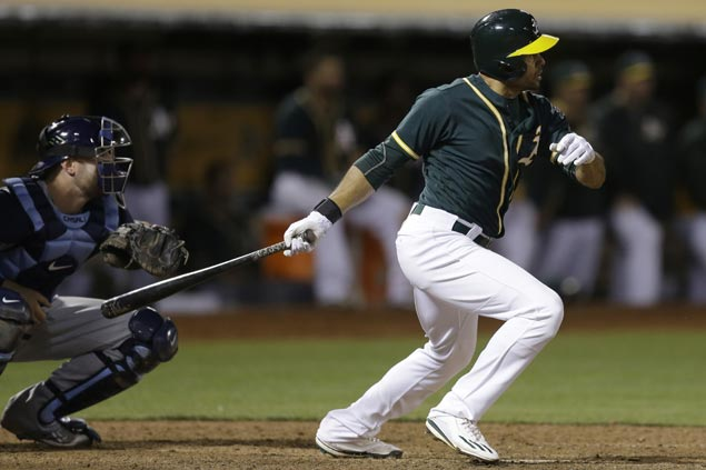 Coco Crisp single powers Athletics to victory in 13-inning marathon against Rays