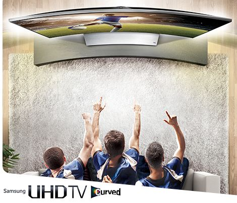 Surround yourself with all the sports action with your own Samsung Curved UHD TV