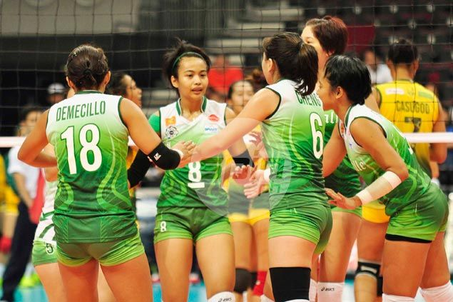 La Salle Lady Spikers get back on winning track, vent ire on FEU Lady Tamaraws