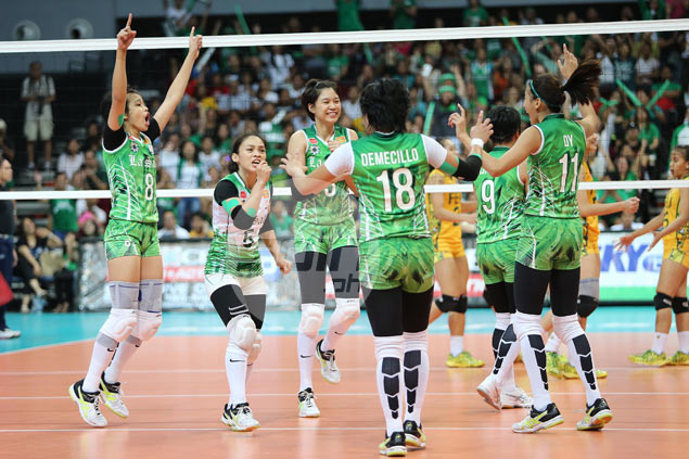 La Salle Lady Spikers back in UAAP women's volleyball finals after straight-sets win over FEU Lady Tamaraws