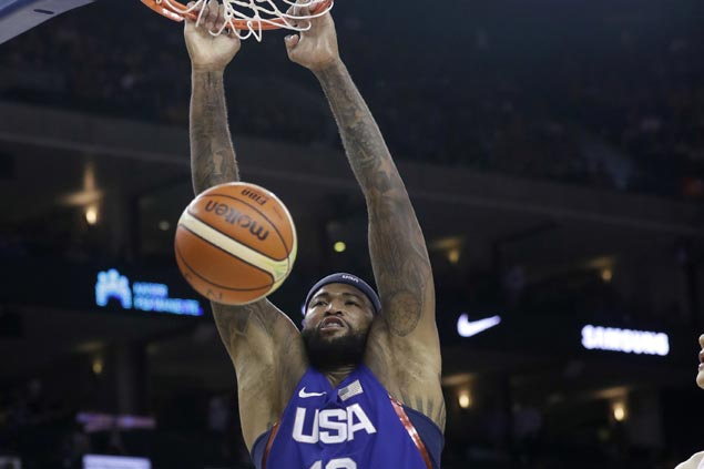 DeMarcus Cousins posts huge double-double as Team USA deals China a 50-point drubbing