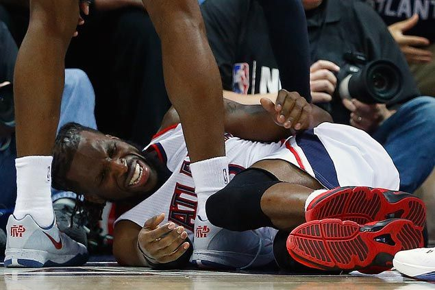 DeMarre Carroll feared out of Hawks-Cavaliers series after suffering sprained left knee