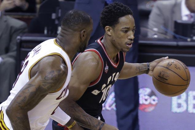 Raptors finally find rhythm and snap Cavaliers' postseason streak at 10