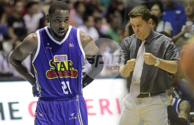 Tim Cone doesn't mind staying away from All-Stars as he gives Denzel Bowles refresher course on 'triangle'