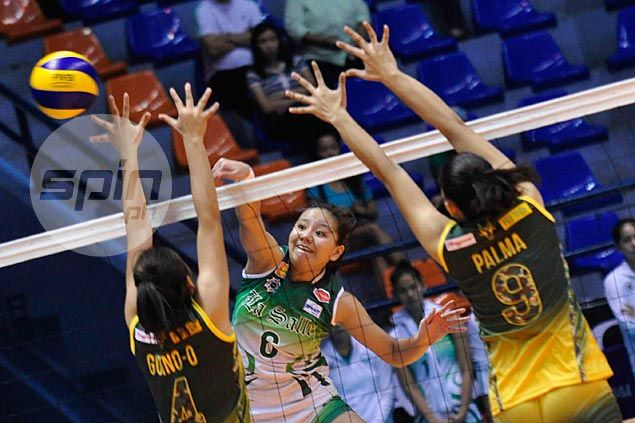 DLSU Lady Spikers down FEU Lady Tamaraws to gain solo lead with fifth win in as many matches