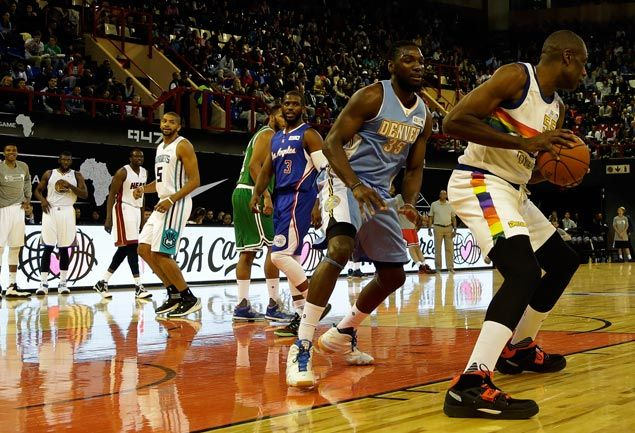 Hakeem, Dikembe suit up as current and former NBA stars put on a show in Africa