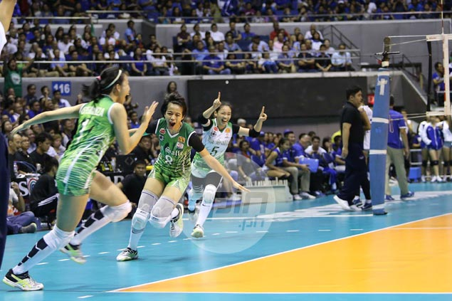 Ara Galang elated with huge straight-sets win, says La Salle going for the kill