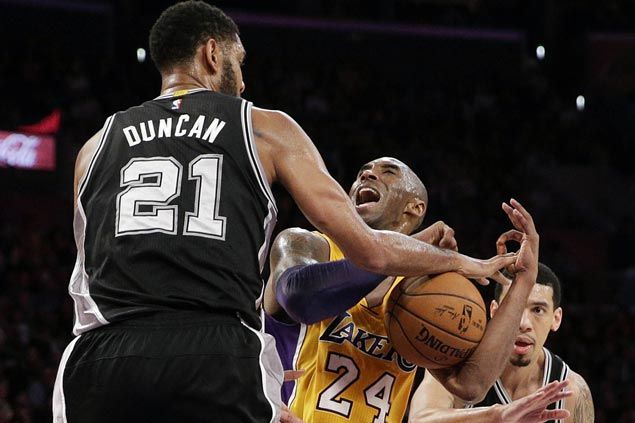 Competitors to the end as Duncan's quiet exit counters flamboyance of Kobe's farewell tour