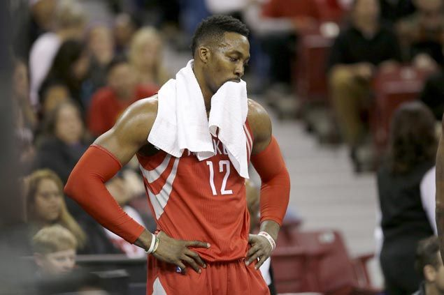 Dwight Howard denies he's 'extremely unhappy' playing alongside James Harden   SPIN.ph