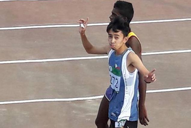 Young Eduard Buenavista settles for silver medal in steeplechase event of Children of Asia International Games