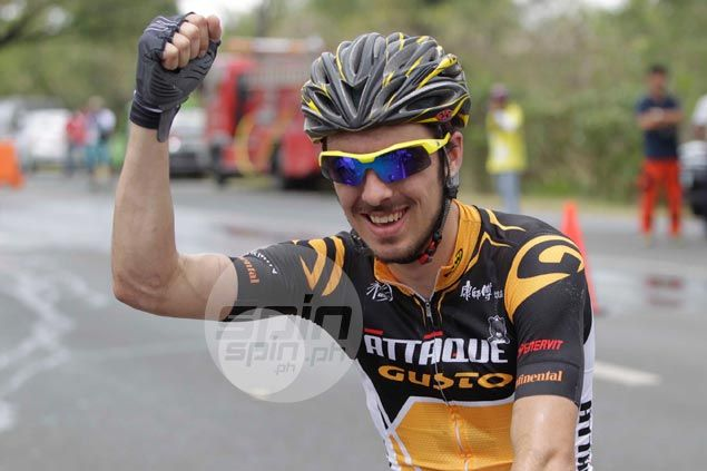 Eric Sheppard outsprints Mark Galedo to take Stage One honors in 2015 Le Tour de Filipinas